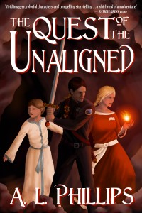 "Official Cover-Art of A.L. Phillips's book ""The Quest of the Unaligned"""